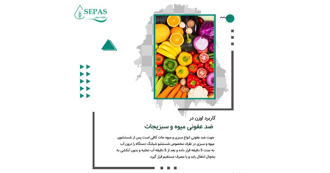کاربرد اوزن در ضد عفونی میوه و سبزیجات